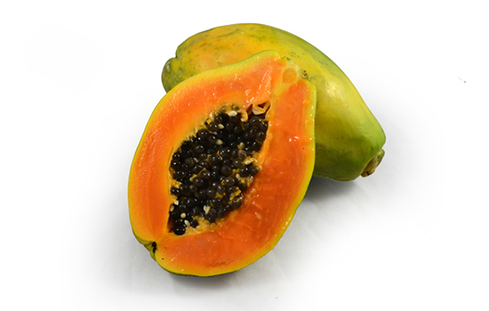 Papayas Sliced