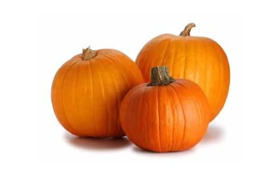 3 Whole Pumpkins